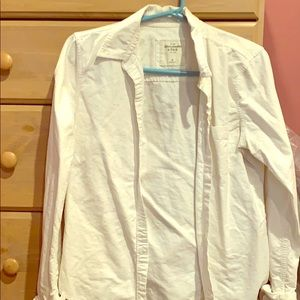 A&F White Collared Button-up Shirt
